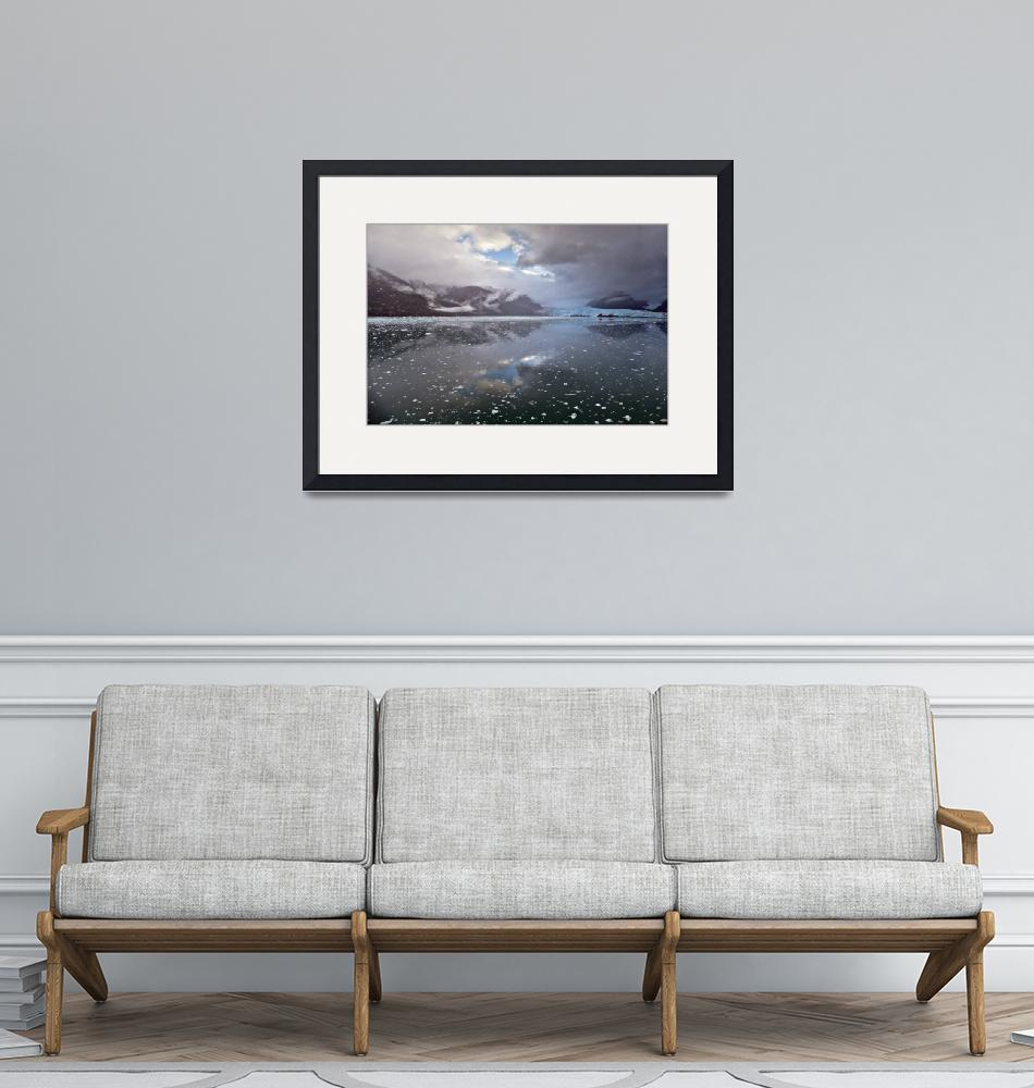 """""""Amalia Glacier with fjord and clouds""""  (2016) by MichaelStephenWills"""