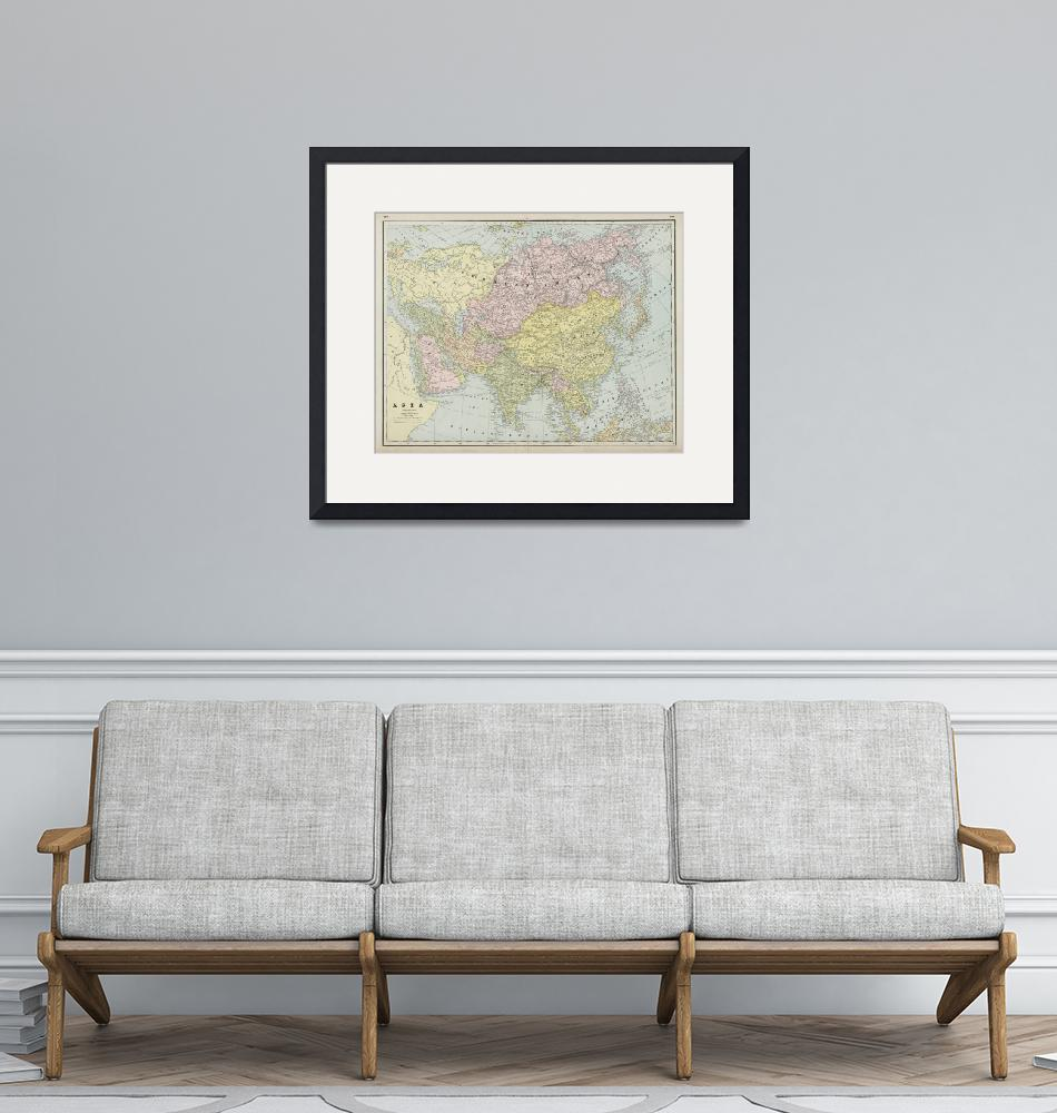 """""""Vintage Map of Asia (1889)""""  by Alleycatshirts"""