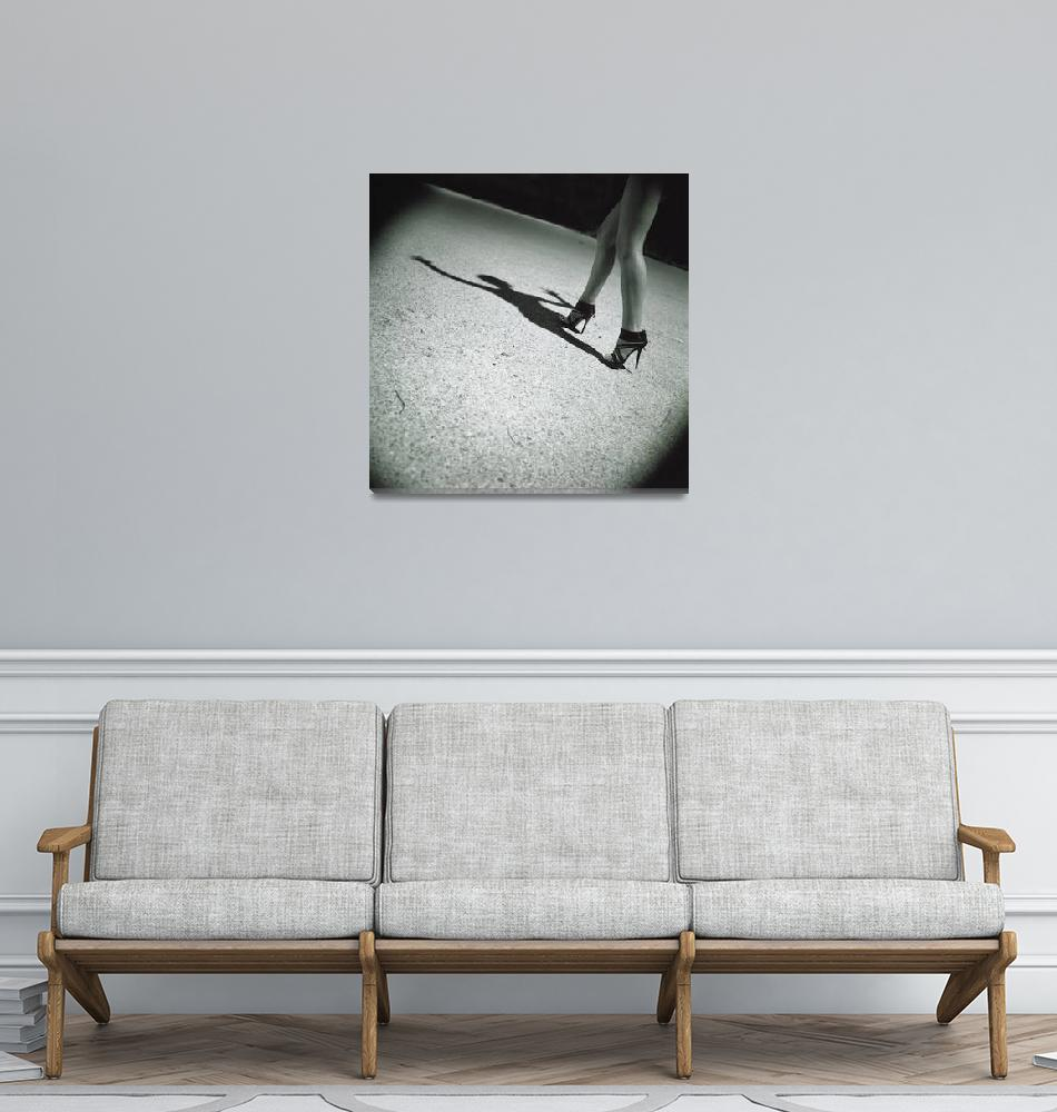 """""""Spirit surreal sexy  legs black and white silver""""  (2011) by edwardolive"""