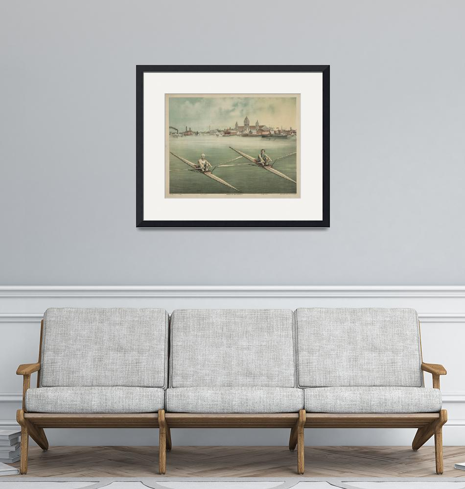 """""""Vintage Illustration of Crewing Athletes (1879)""""  by Alleycatshirts"""