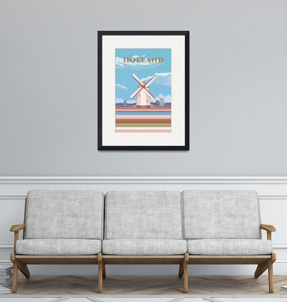 """""""Travel Poster of Holland 124"""" by Arpina"""