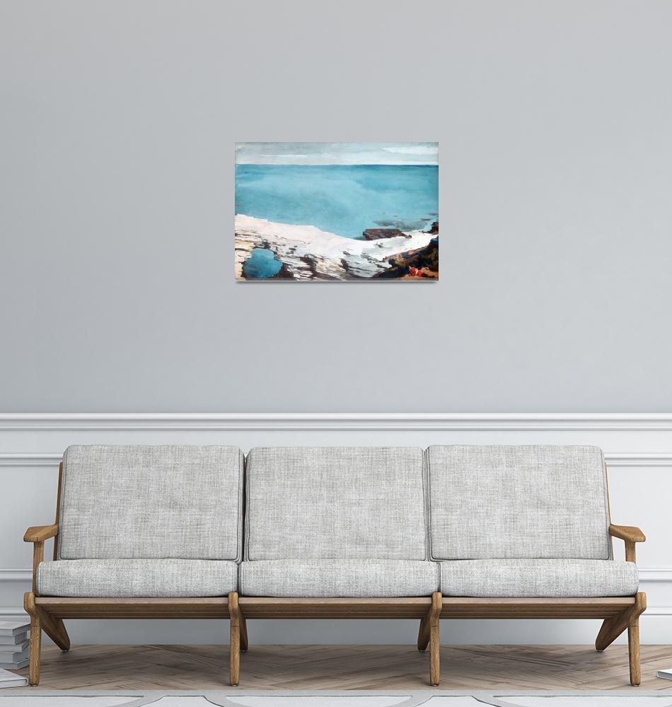 """Natural Bridge, Bermuda Artist Winslow Homer""  by motionage"