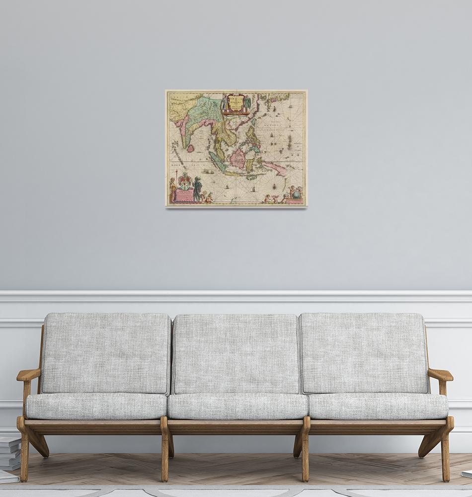 """""""Vintage Map of Indonesia (1665)""""  by Alleycatshirts"""