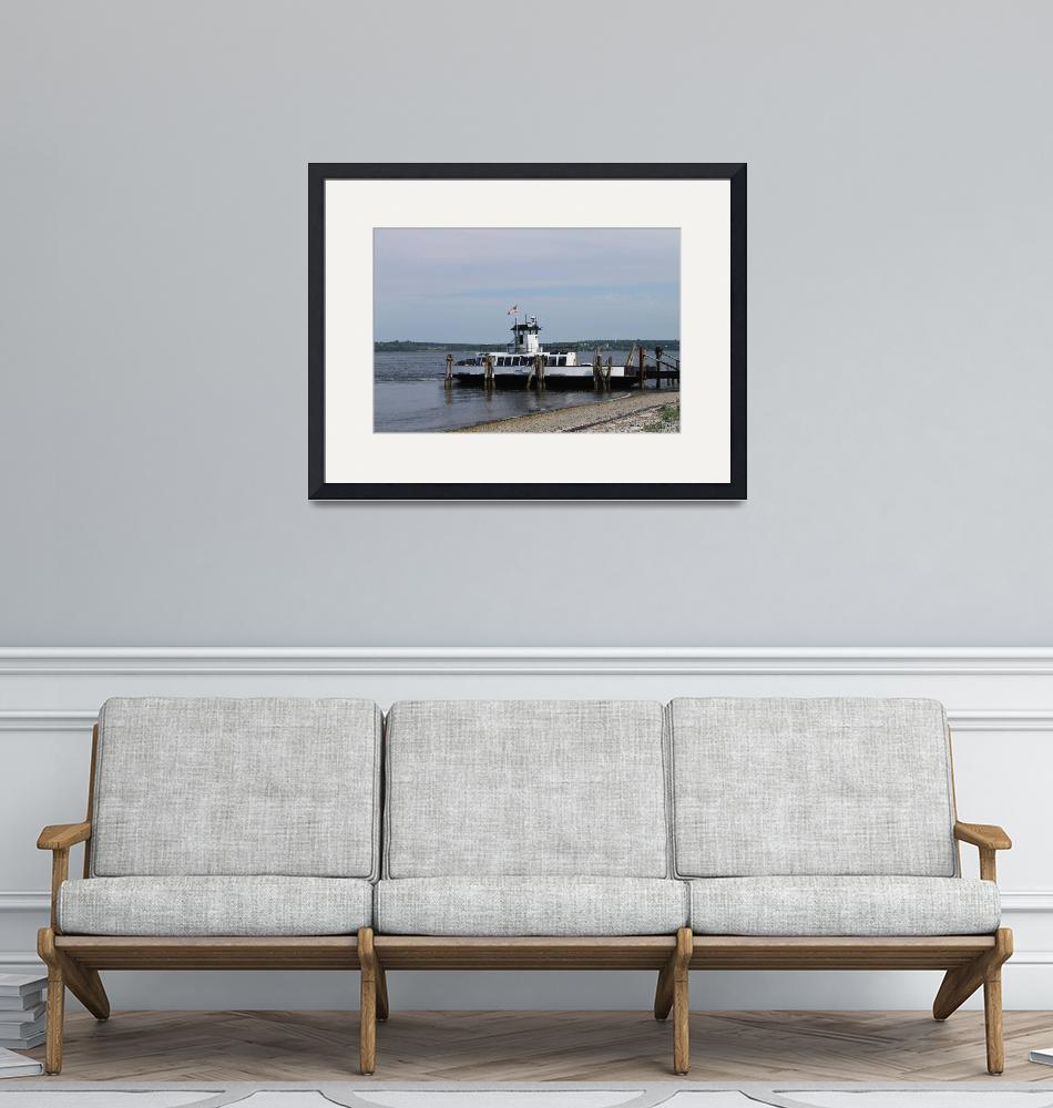 """Prudence Island Ferry""  (2013) by FloweringFoxDesigns"
