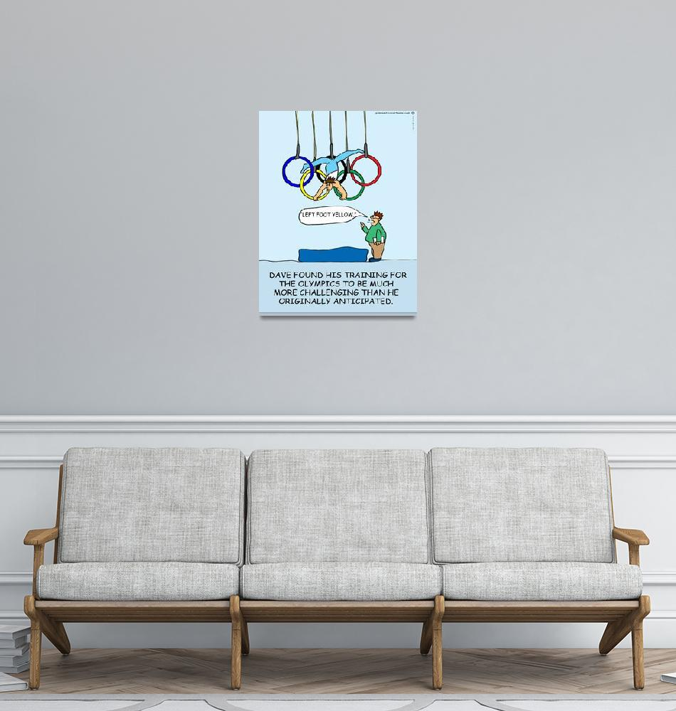 """""""Training for the Games""""  (2012) by gymnasticscartoons"""