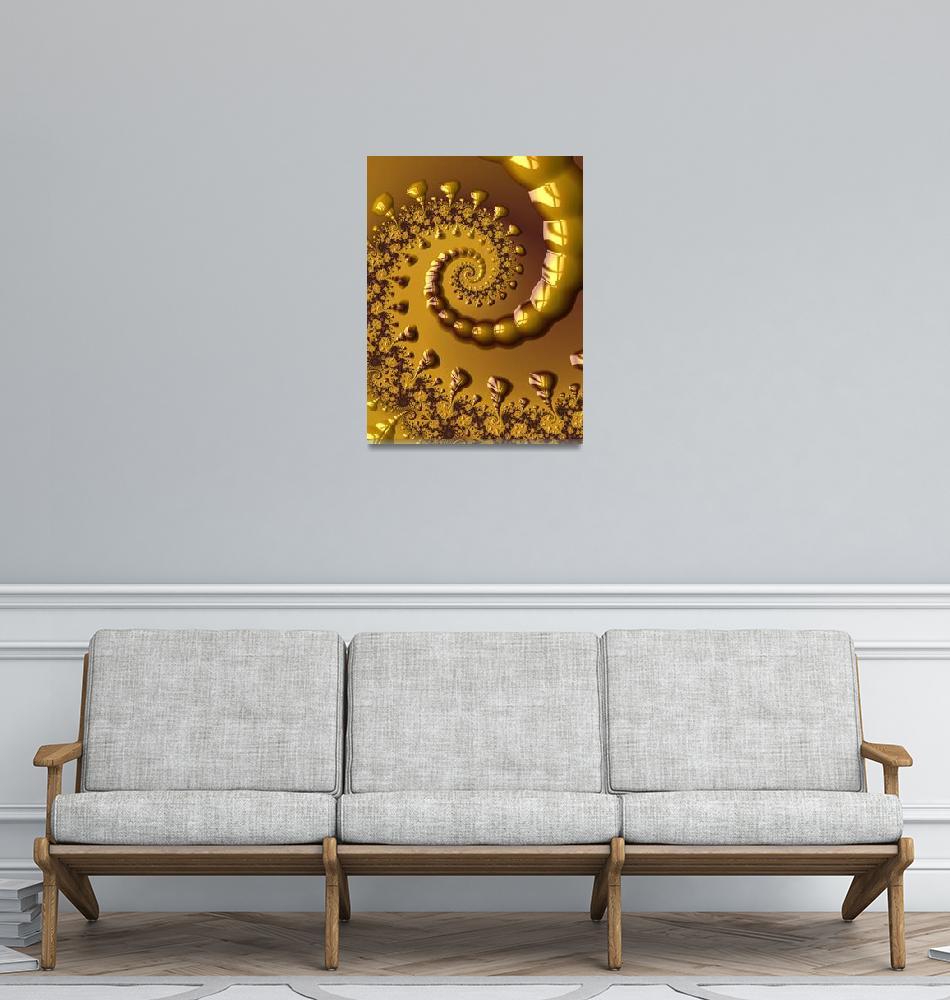 """Golden Scorpion Tail Spiral""  (2014) by butchhauke"