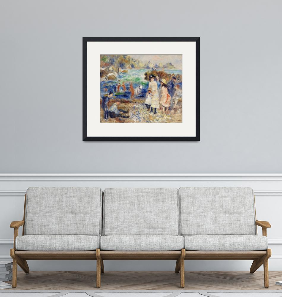 """Children on the Seashore, Guernsey by Renoir""  by FineArtClassics"