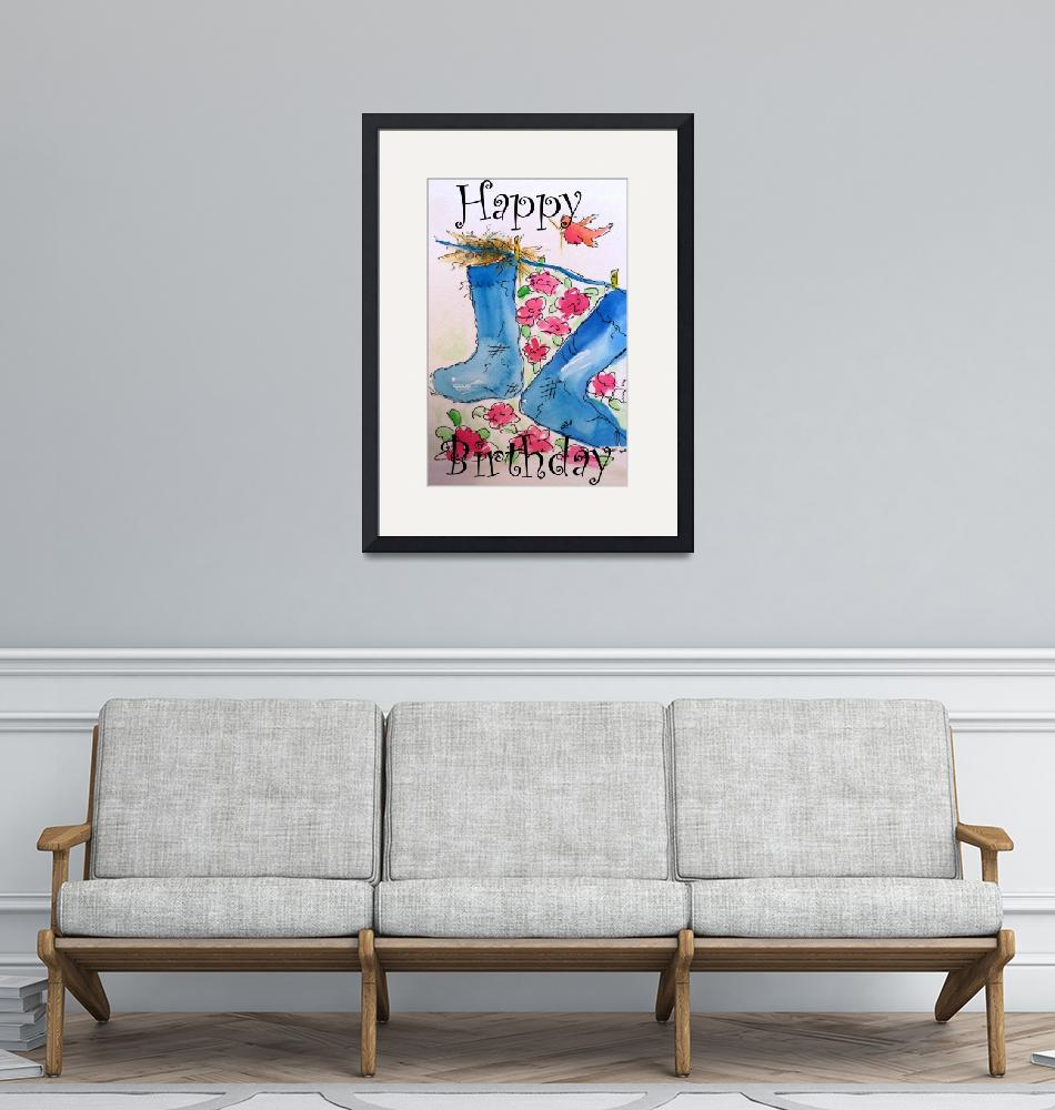 """""""Happy Birthday, Find Your Home Painting""""  by artbyclaire"""