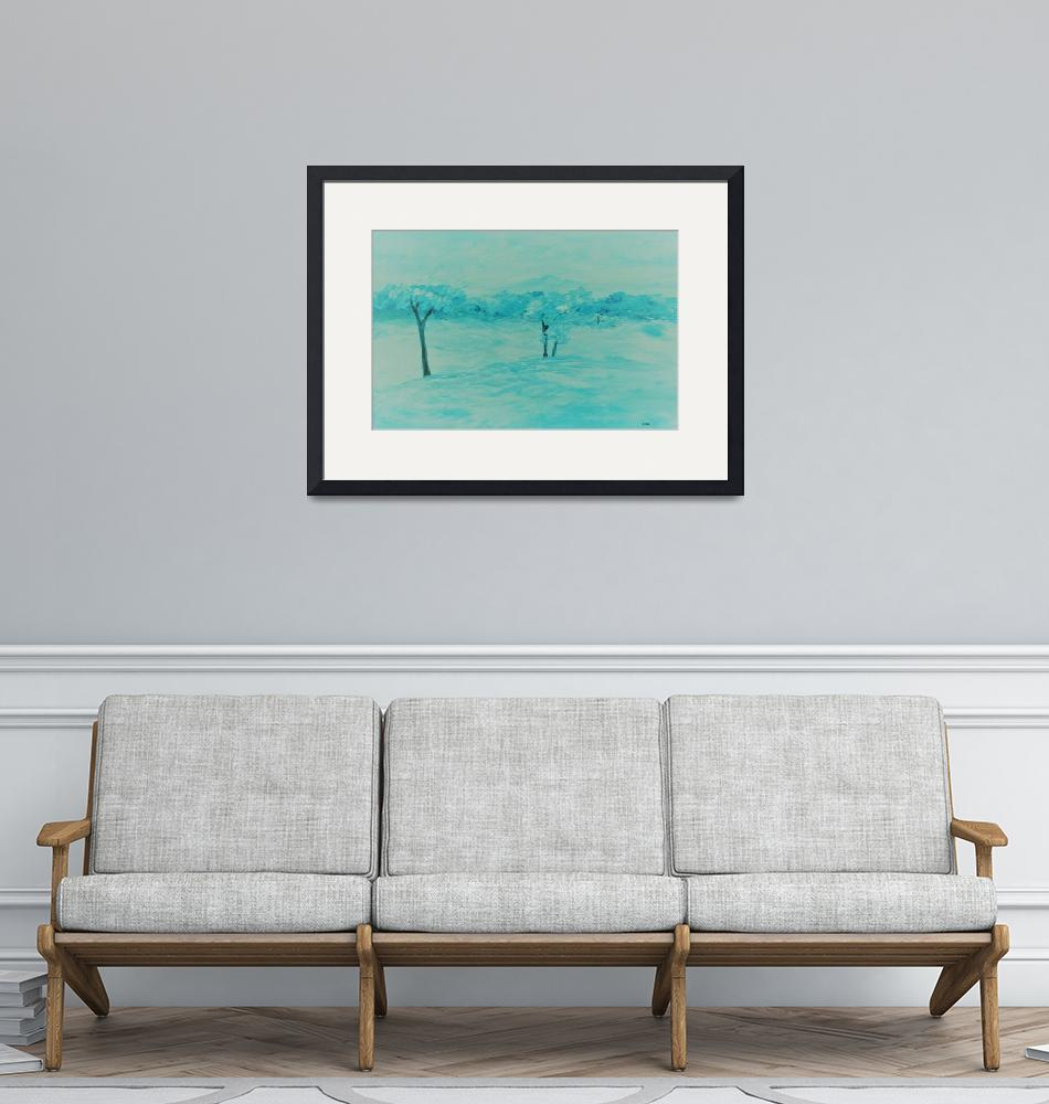"""Abstract Teal Landscape""  by EloiseArt"