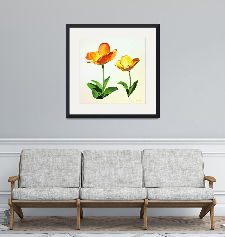 """""""Tulips Tall and Short""""  by susansartgallery"""