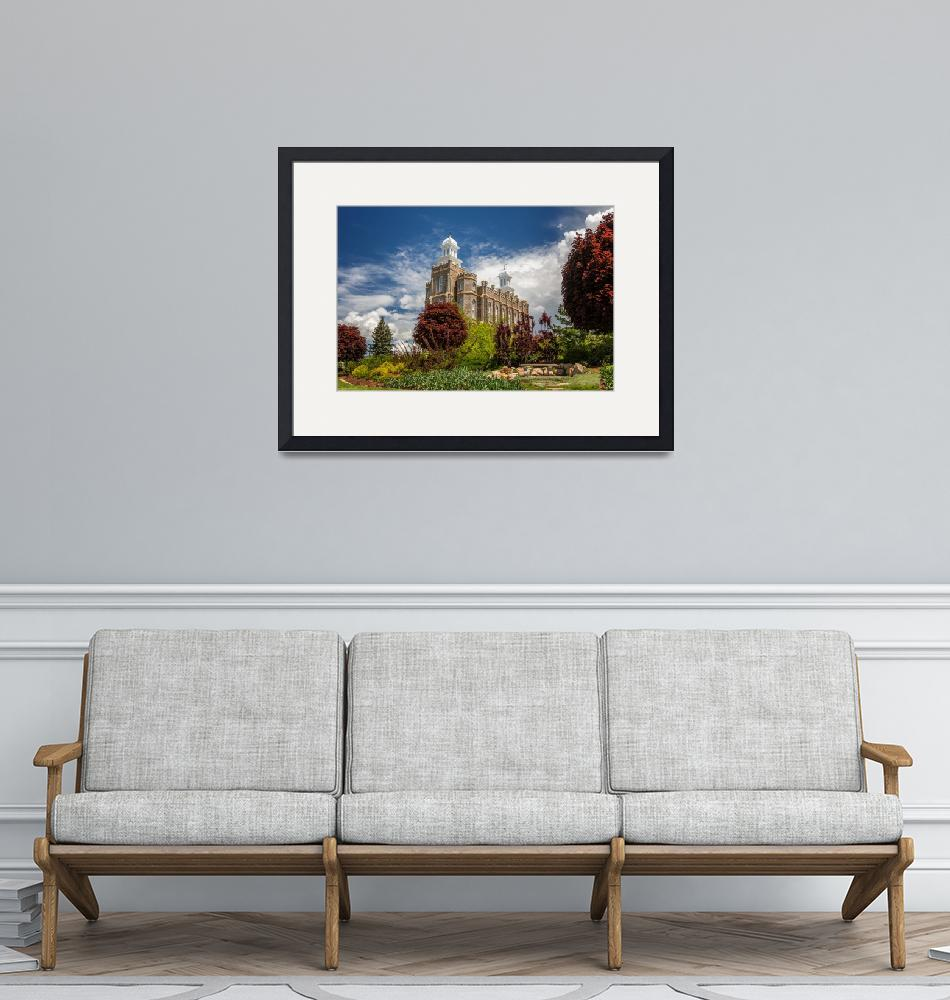 """""""Logan Utah LDS Temple""""  (2015) by ScottLawPhotography"""