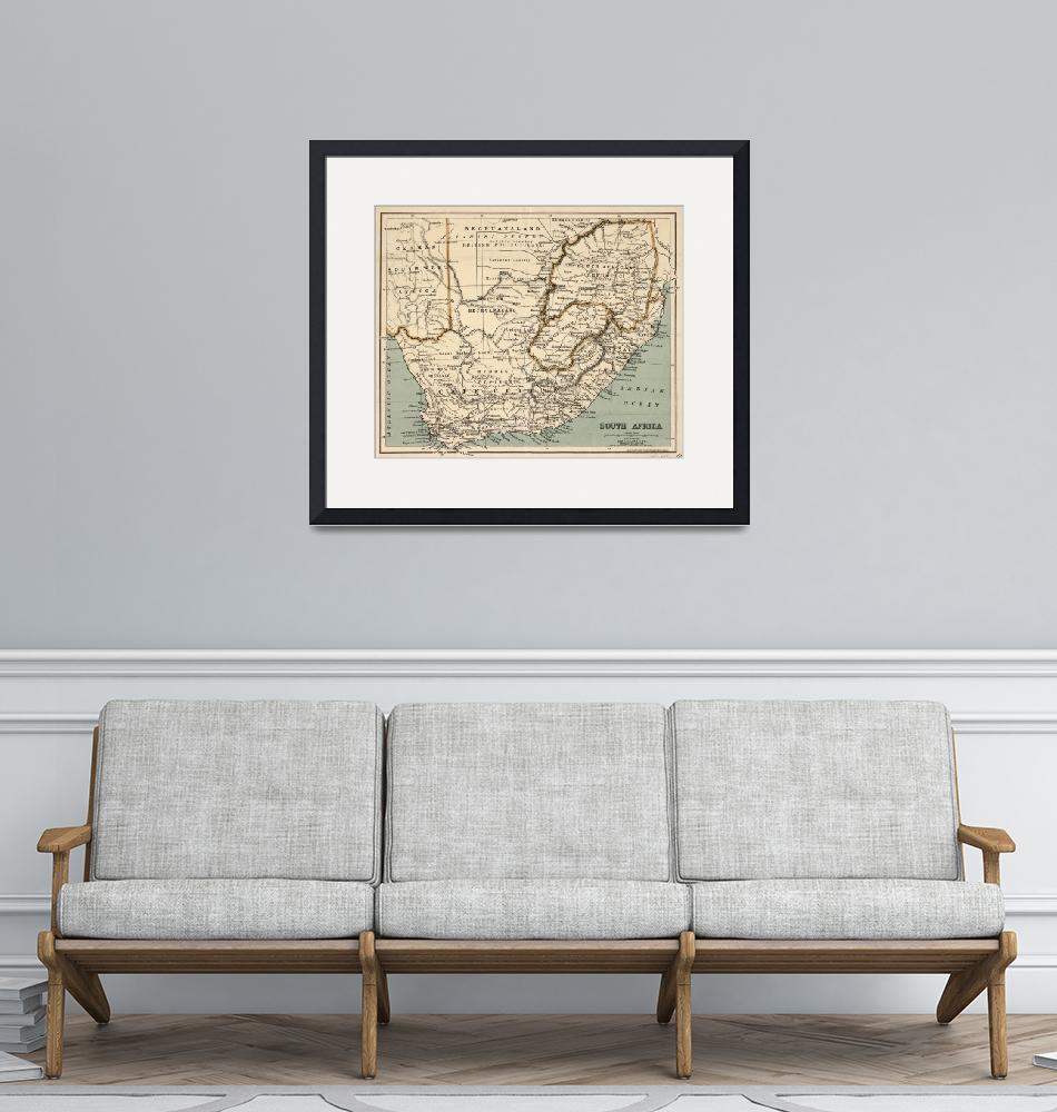 """""""Vintage Map of South Africa (1889)""""  by Alleycatshirts"""