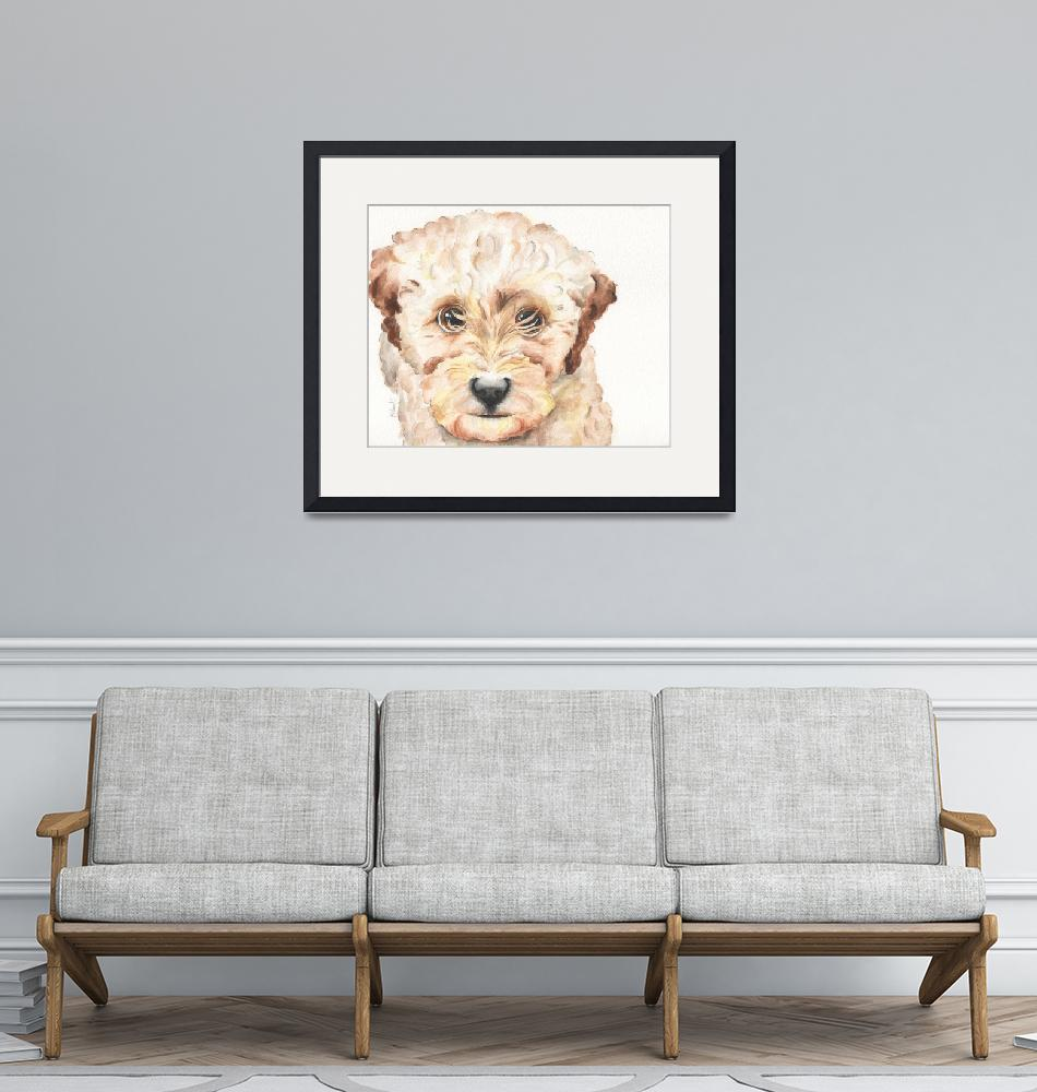"""""""Nala the TP Trailing Toddler Labradoodle"""" (2014) by Designomel"""