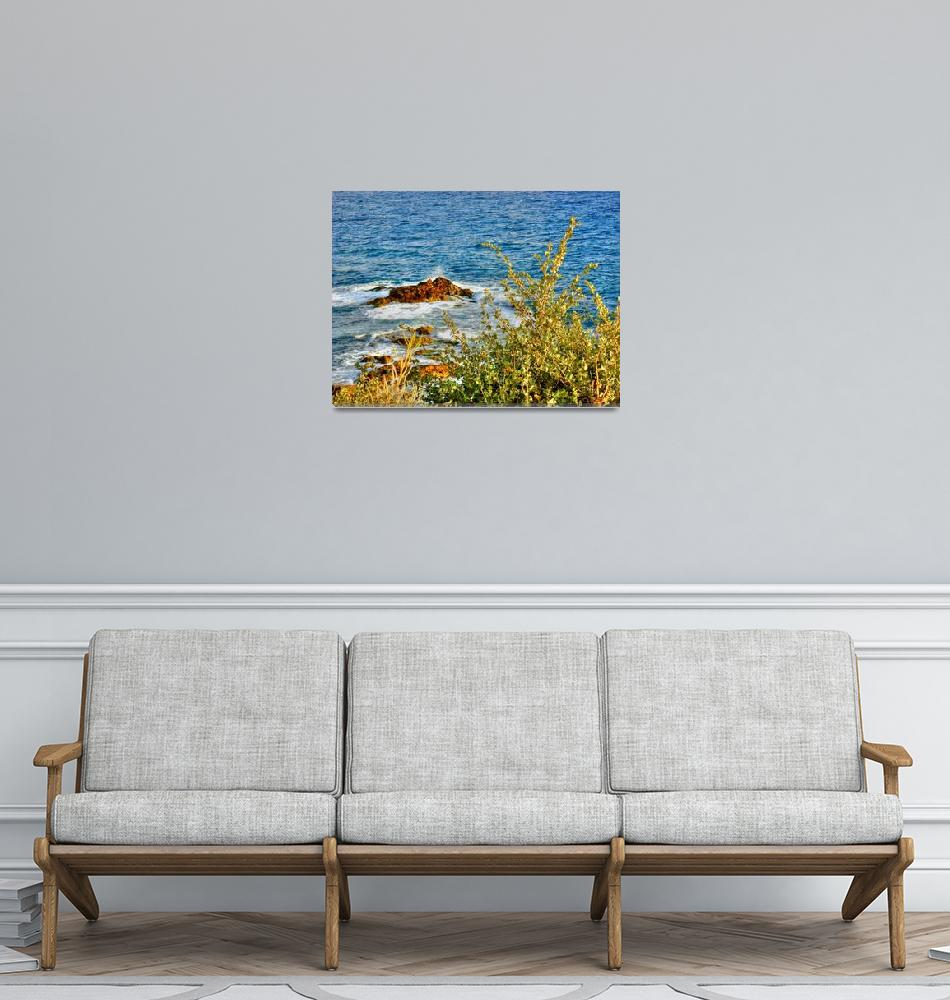 """""""Sea Shore From Above II""""  by Waseem"""