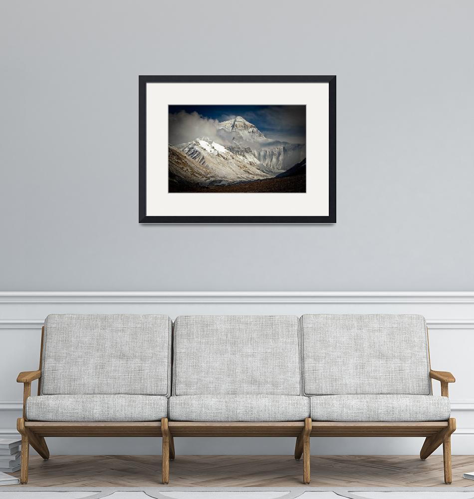 """Everest from Rongbuk, Tibet, after fresh snow""  (2006) by ExposedPlanet"