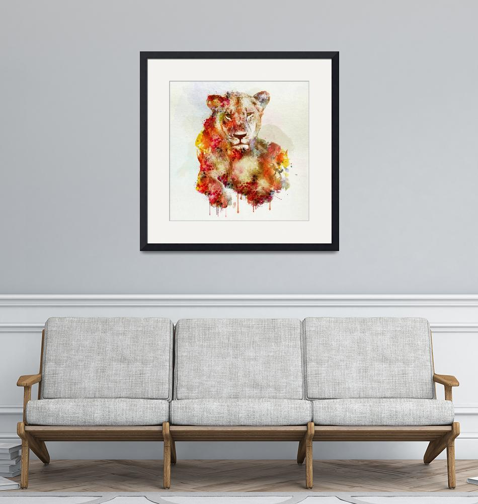 """""""Resting Lioness""""  (2014) by MarianVoicu"""