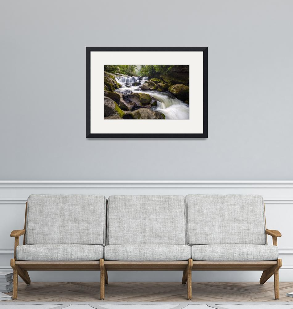"""Chattooga River Potholes Waterfall Highlands NC -""  (2012) by DAPhoto"
