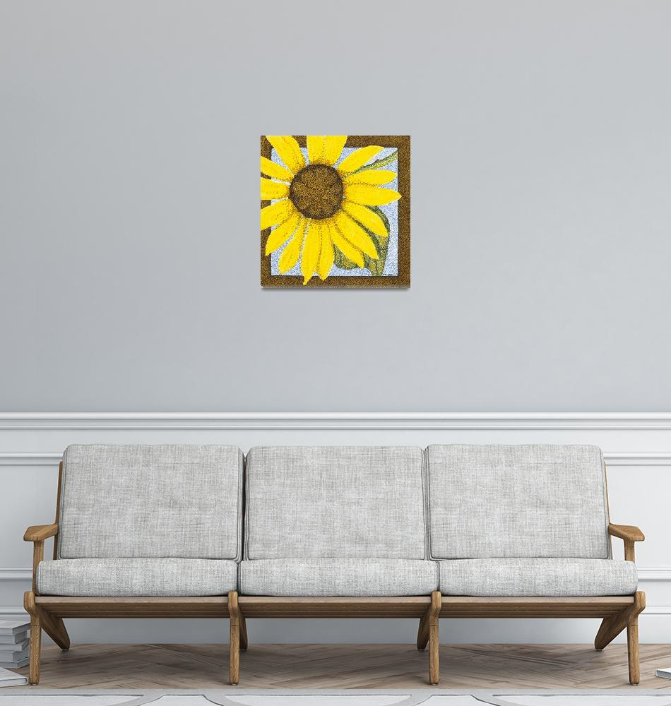"""Wee Sunflower""  (2009) by ArtbyJudyNewcomb"