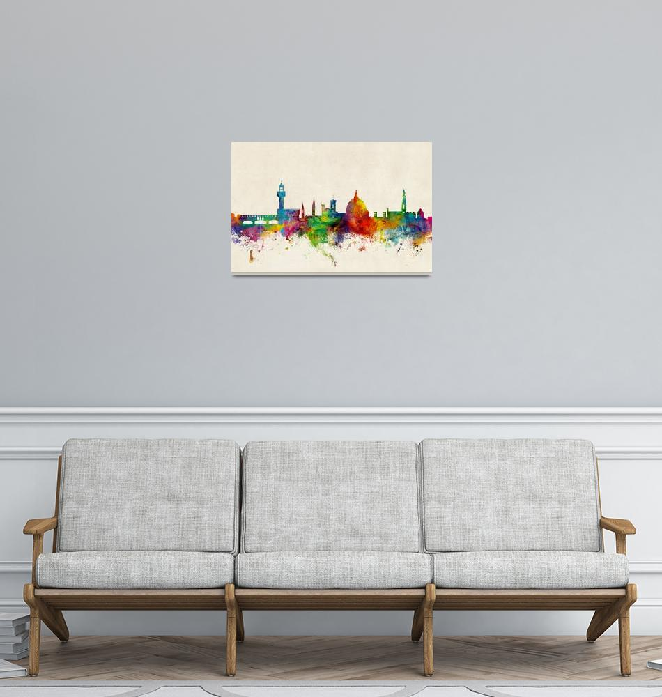 """""""Florence Italy Skyline""""  (2015) by ModernArtPrints"""