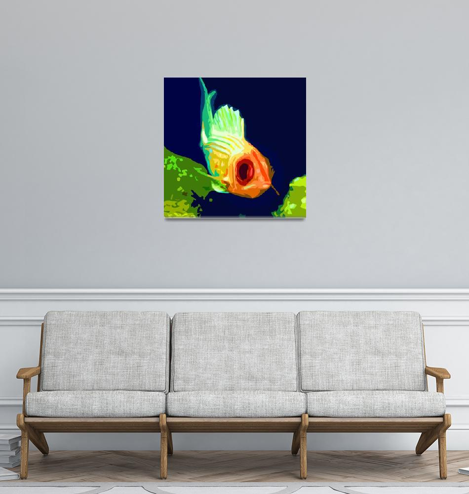 """Fishy Look""  (2010) by whitewallgallery"