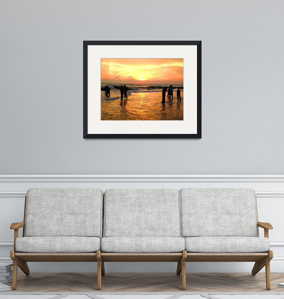 """""""People watching Sunset""""  (2008) by shampadmominphotography"""