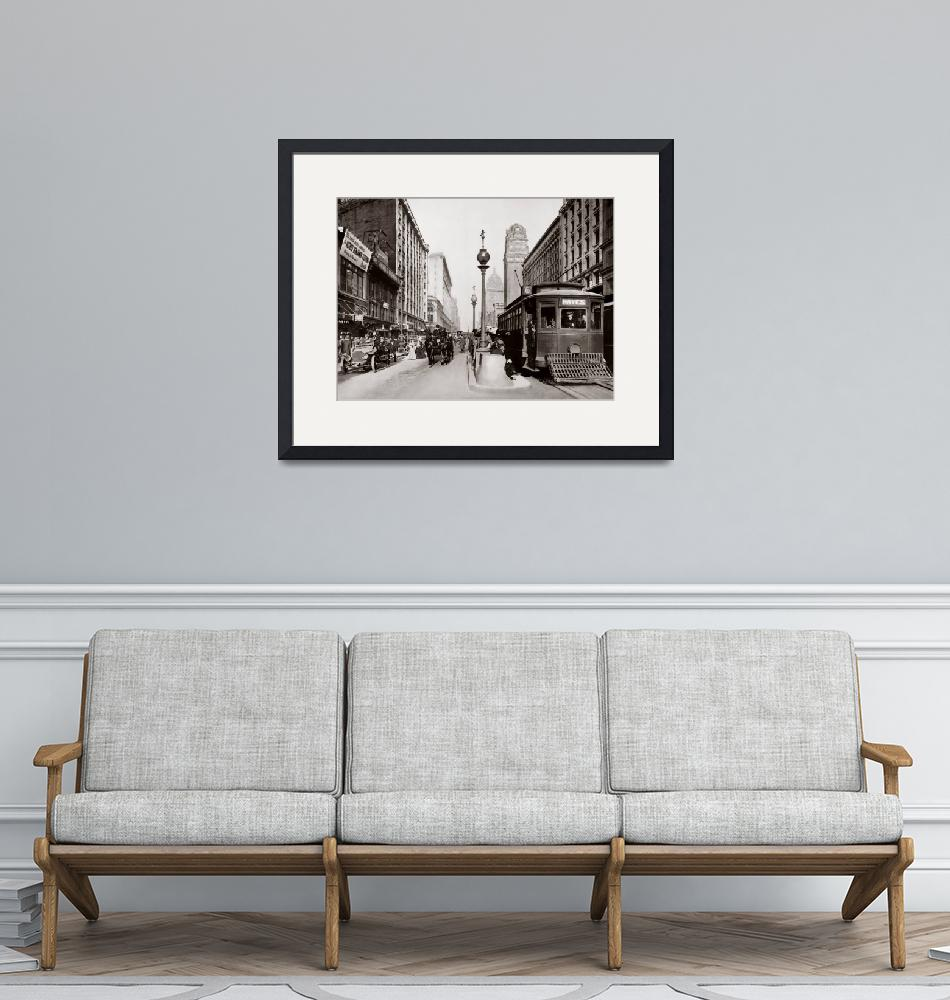 """""""Market and Powell, Hayes Trolley-Sepia""""  by worldwidearchive"""