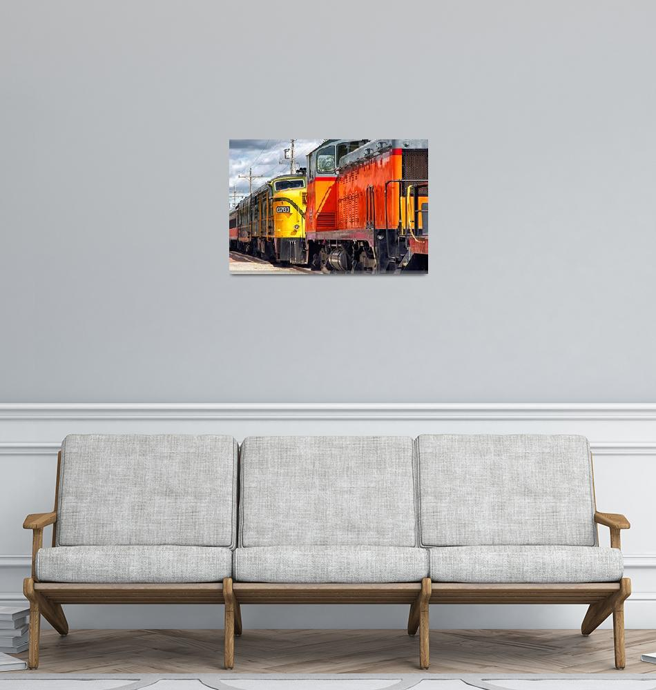 """Vintage Locomotives""  (2014) by BrianKerls"