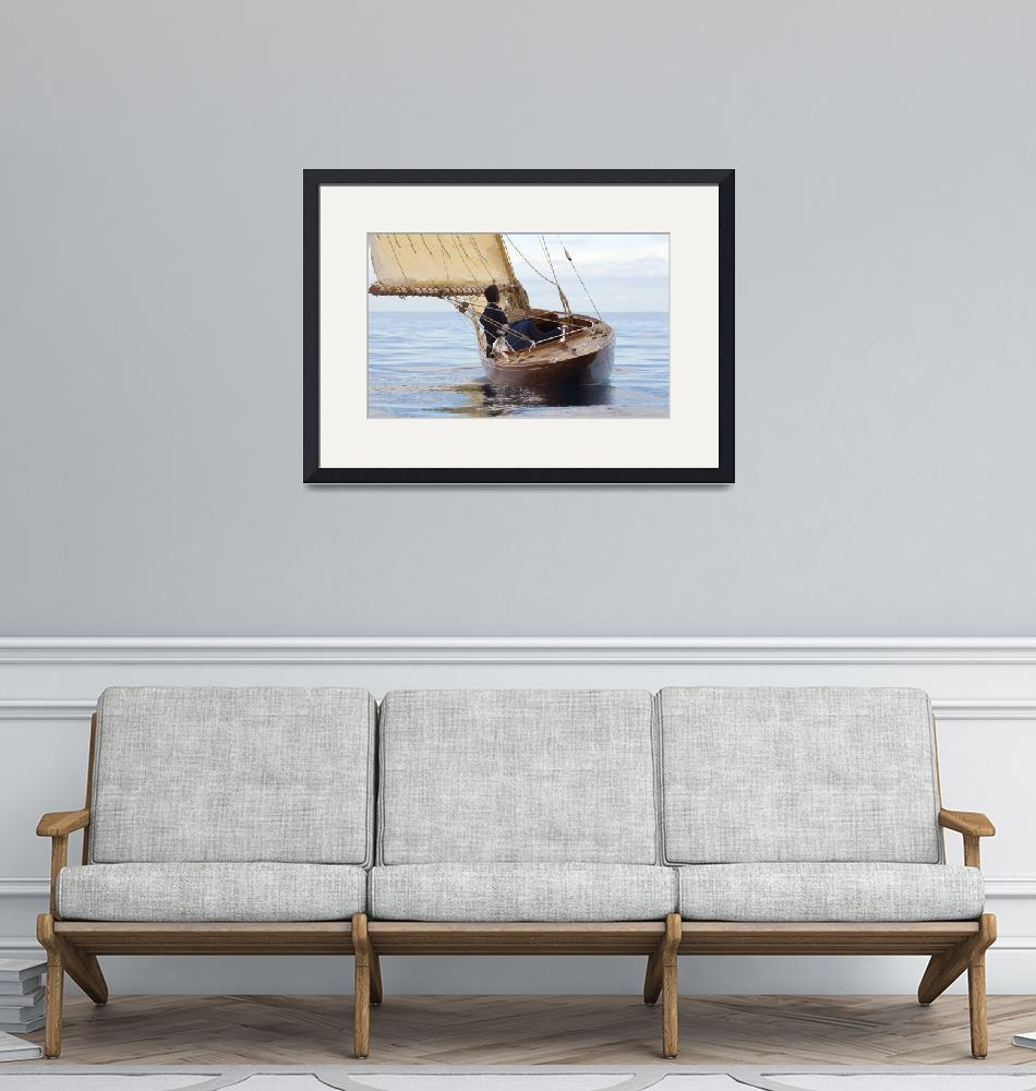 """""""Old style sailboat""""  (2011) by libanmax"""