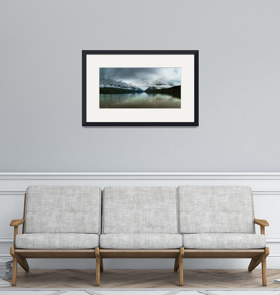 """""""Nelson lakes panorama""""  (2008) by peterwey"""