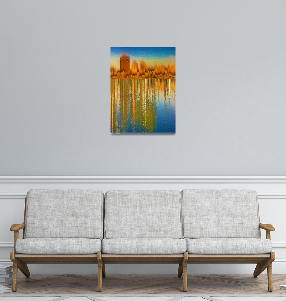 """Canyon""  (2018) by RubinoFineArt"