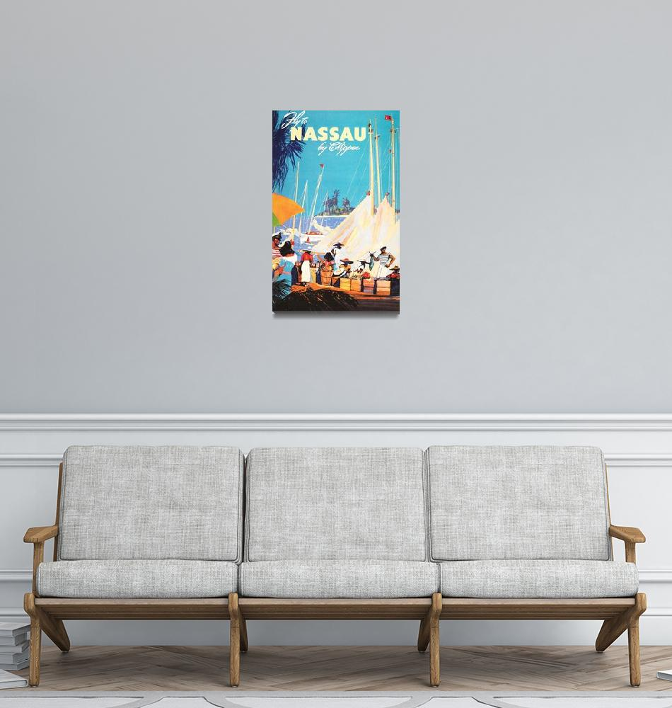 """Nassau, Bahamas Vintage Travel Poster""  by FineArtClassics"
