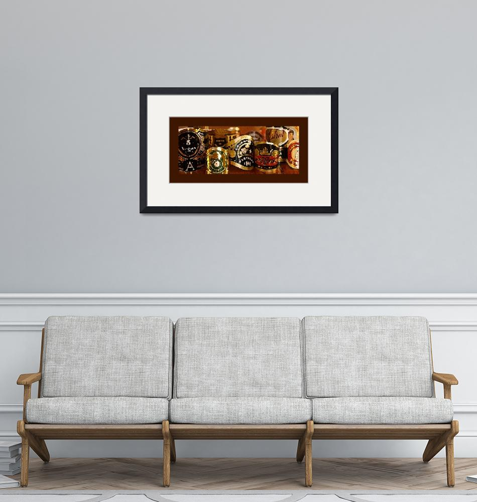 """""""cigar labels painting""""  by stevekeefer"""