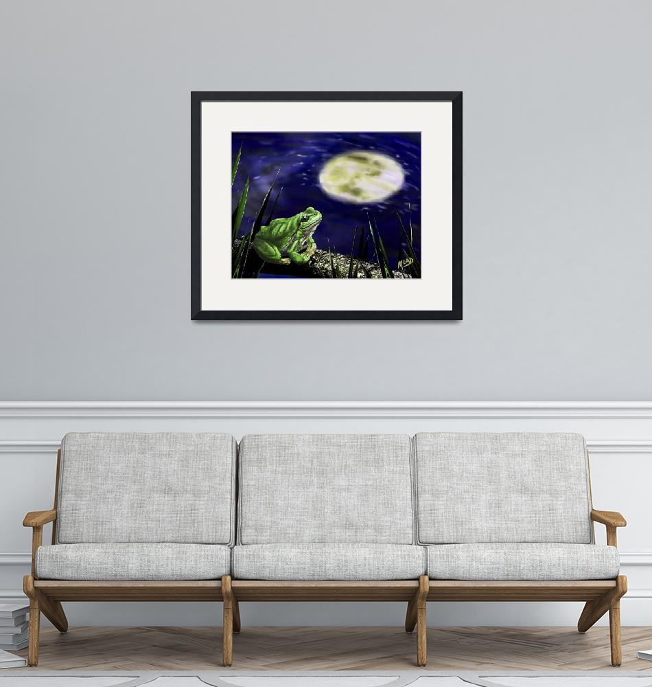 """""""Moon Frog Blues""""  (2019) by mjacedesigns"""