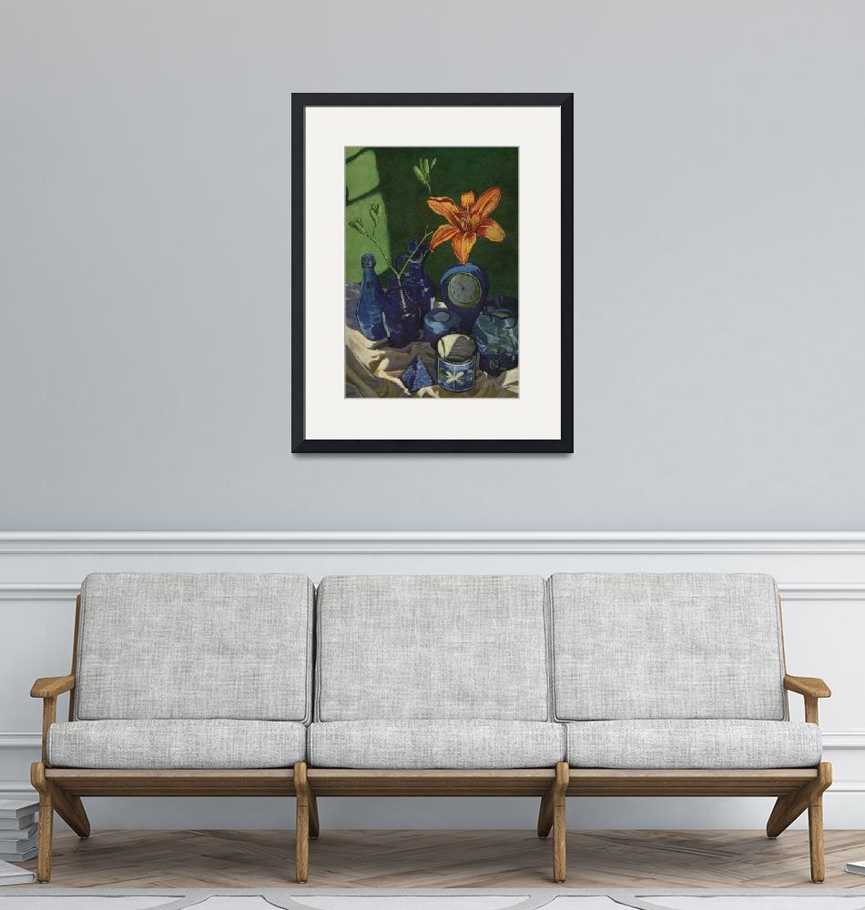 """""""Still Life with Day Lily""""  (2003) by soothedbyrainfall"""