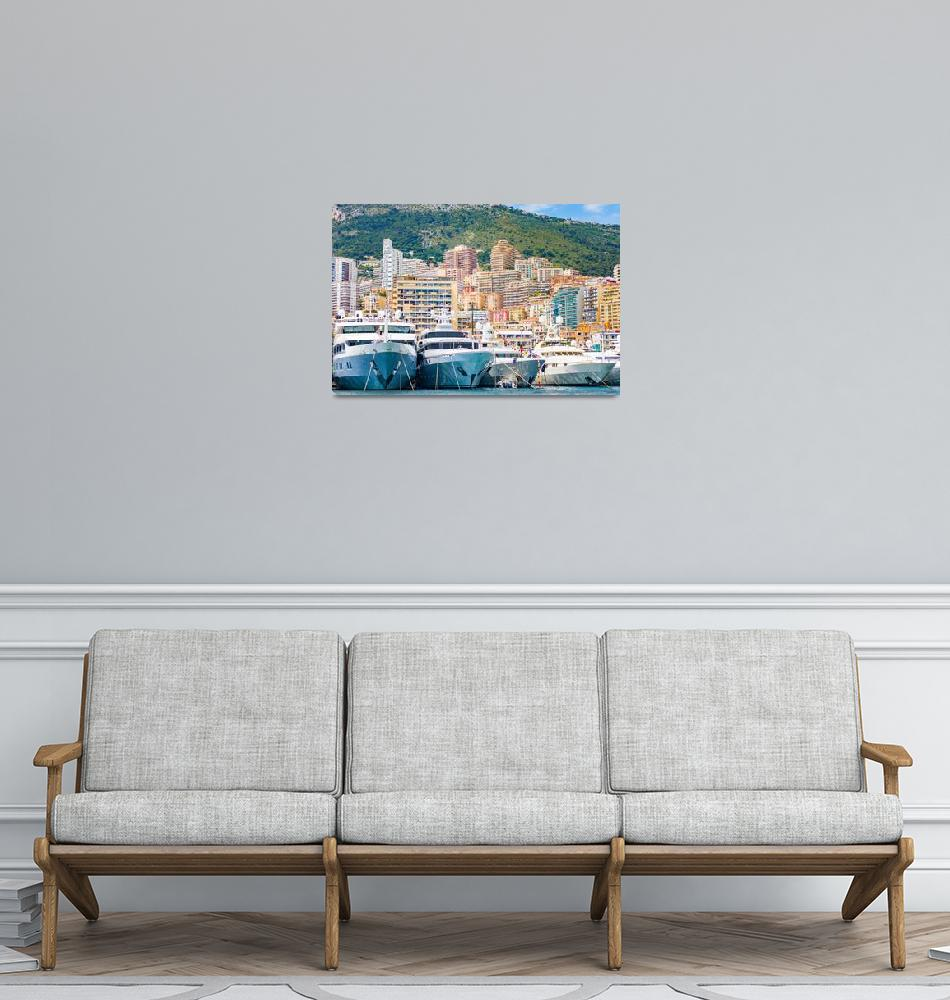 """The port of Monaco during a Grand Prix competition""  (2019) by MichielTon"