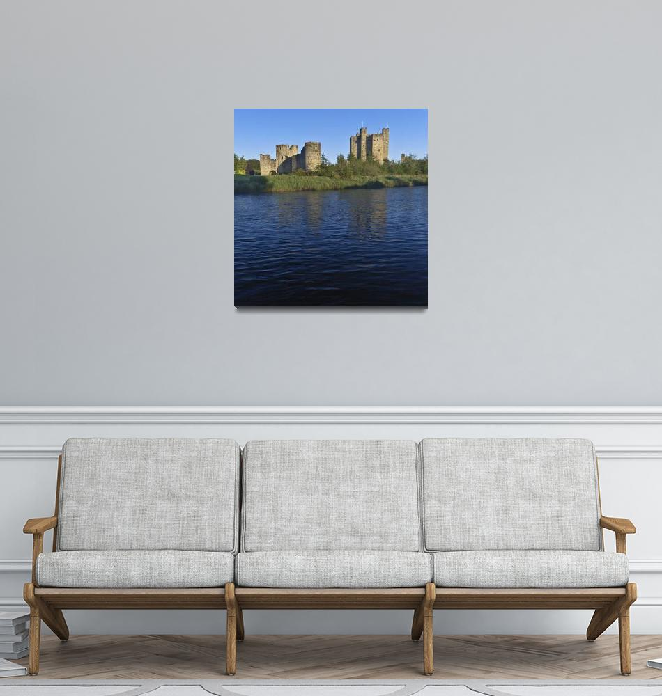 """Trim Castle on the River Boyne in a spring dawn""  (2014) by MichaelStephenWills"