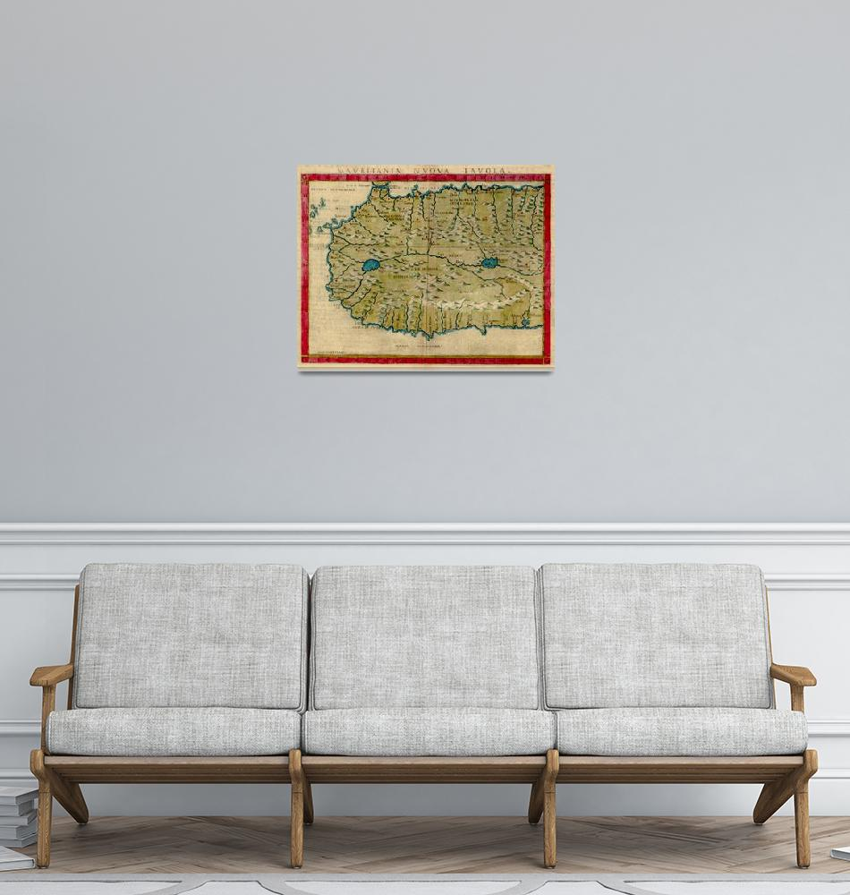 """""""Vintage Map of West Africa (1561)""""  by Alleycatshirts"""