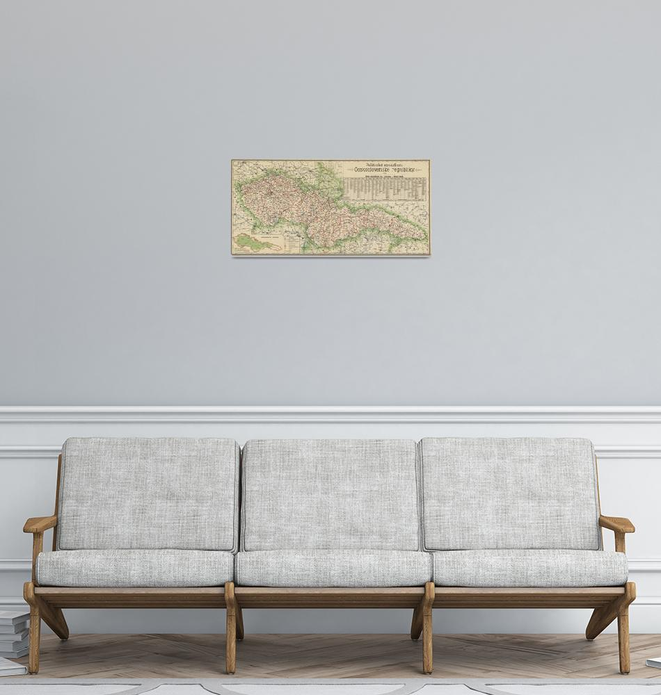 """""""Vintage Map of The Czech Republic (1920)""""  by Alleycatshirts"""