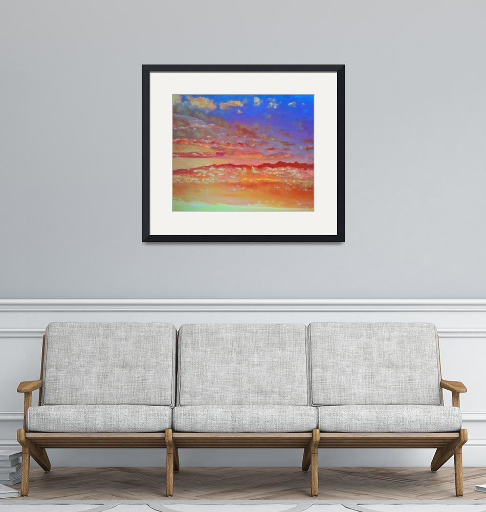 """""""Blue Orange and Pink Skyscape""""  (2015) by RDRiccoboni"""