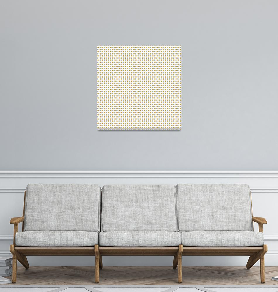 """""""Gold and Silver Polka Dots Pattern""""  (2020) by ValeriesGallery"""
