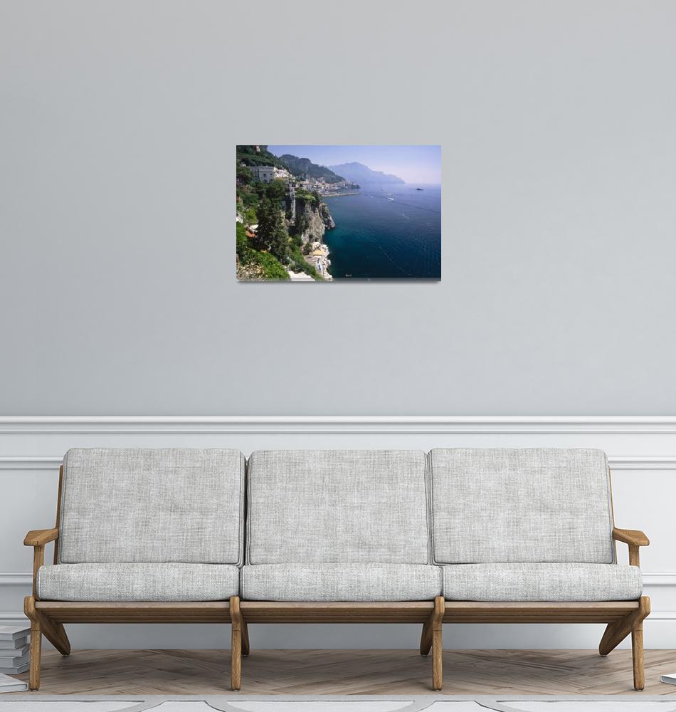 """Amalfi Coast Cliffside Scenic""  (2012) by George_Oze"