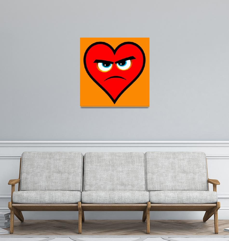 """Heart Series Love Angry Hearts""  (2018) by RubinoFineArt"