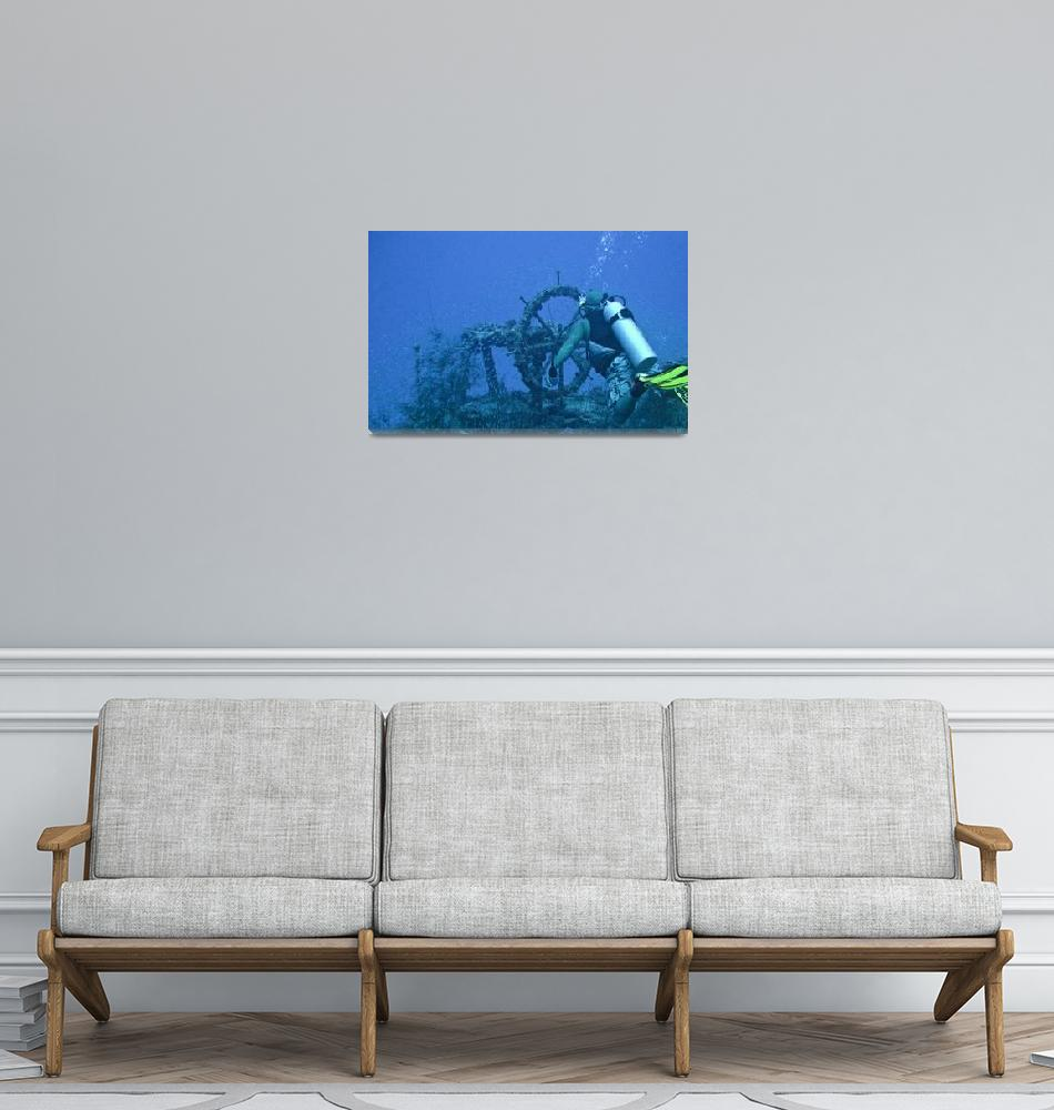 """""""Diver on the Palawan""""  (2008) by Mac"""