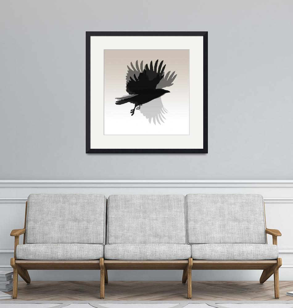 """""""Crow Flies""""  (2011) by mcconnico"""