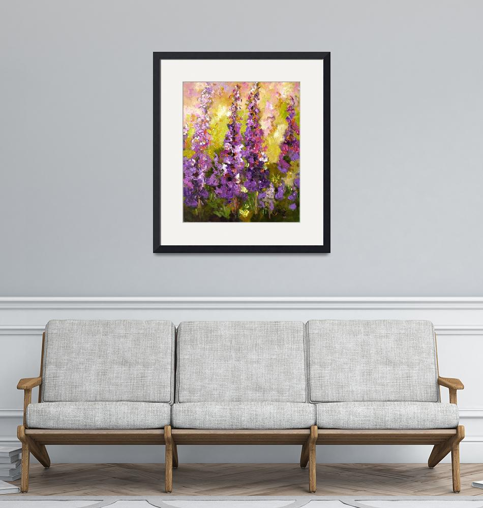 """Lupines Impressionist Flower Painting""  (2008) by GinetteCallaway"