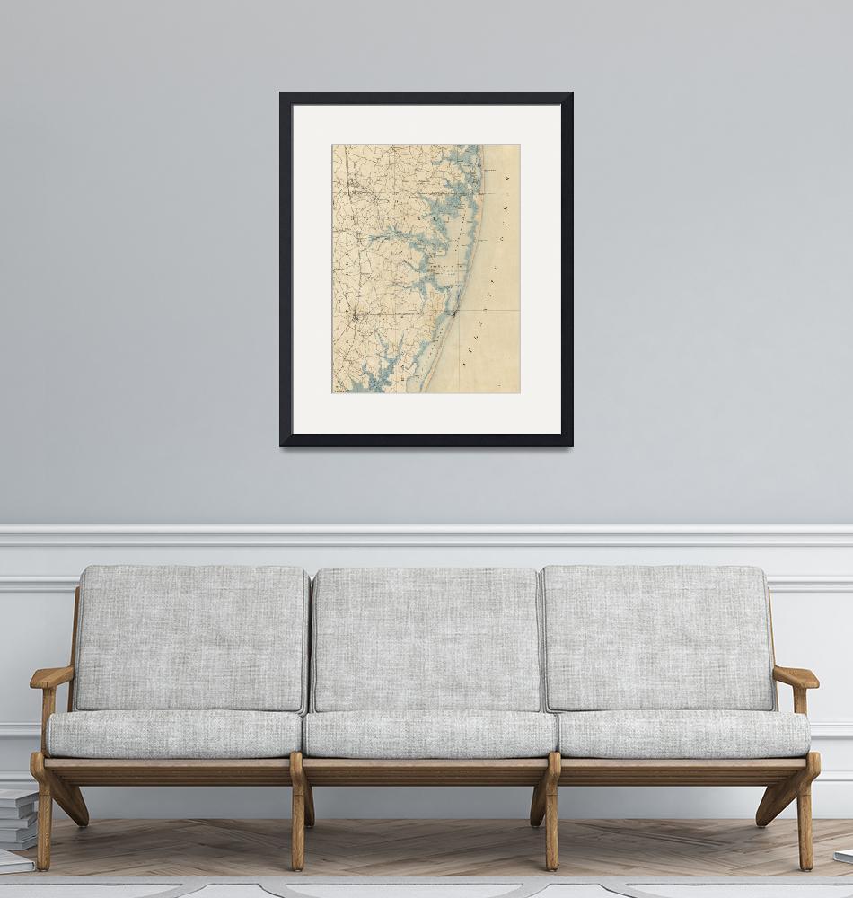 """""""Vintage Map of Ocean City Maryland (1900)""""  by Alleycatshirts"""