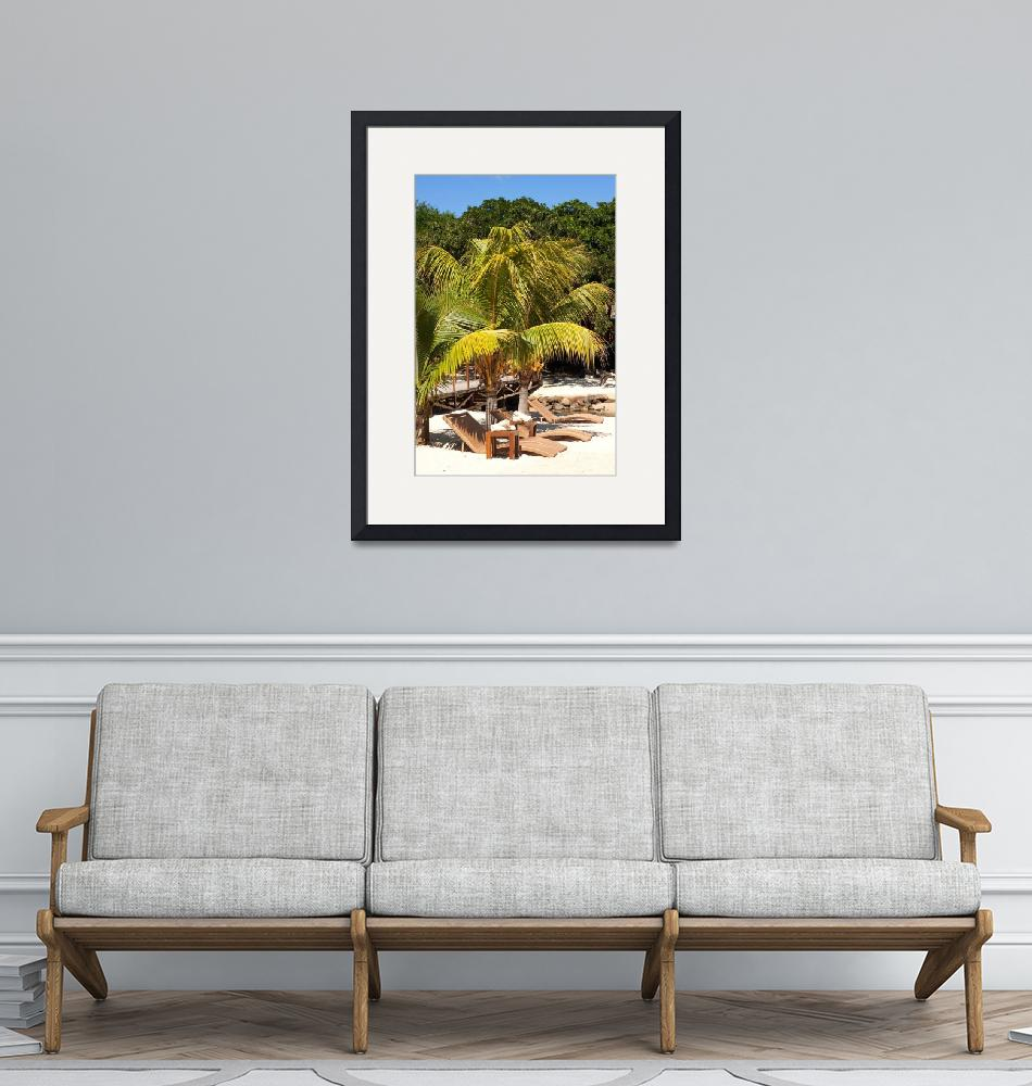 """""""reclining chairs on the beach""""  (2010) by Rajeshbac"""