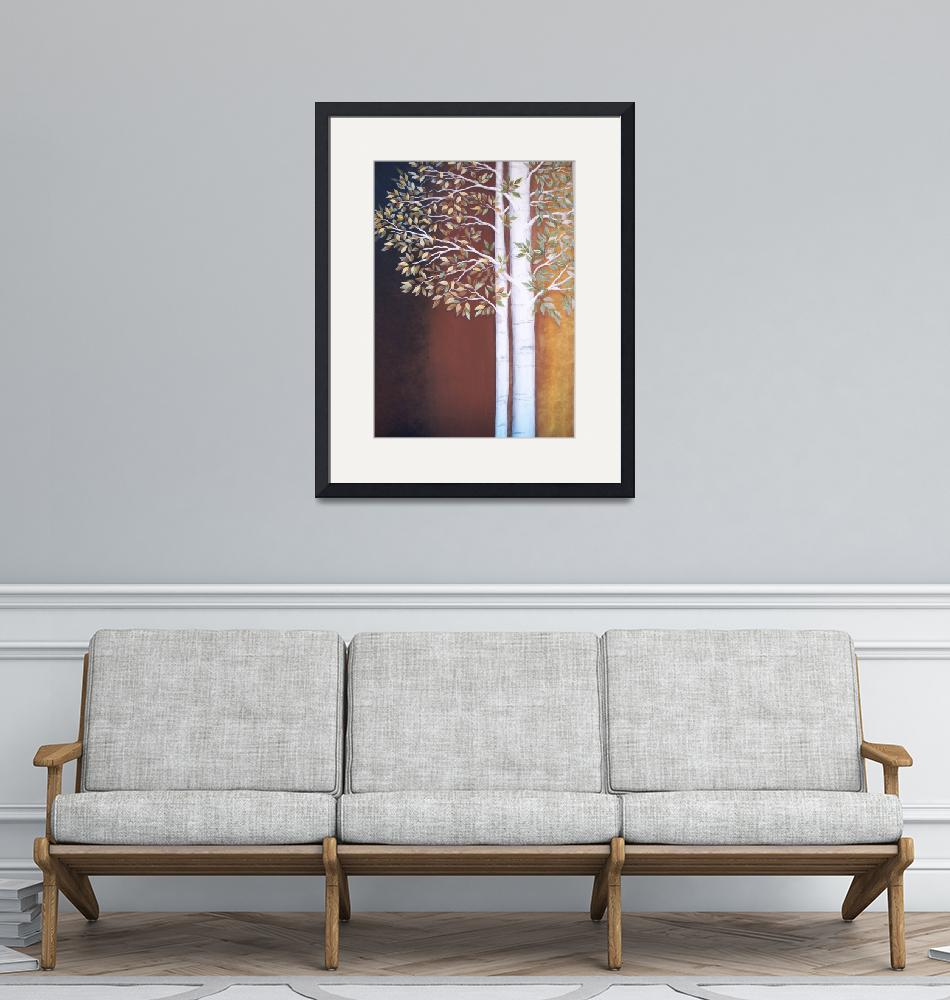"""""""Spring to Fall Aspen Trees""""  (2009) by VictoriaLarsen"""