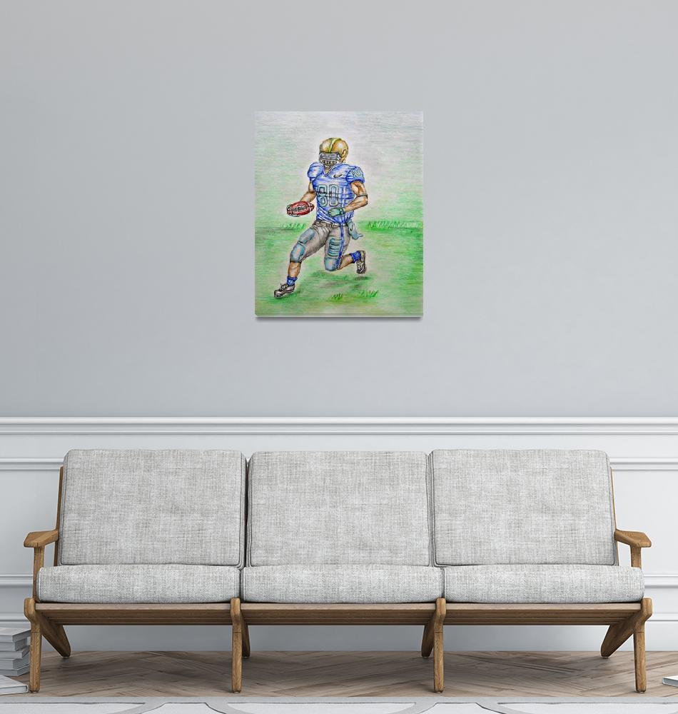 """Football Player""  (2012) by thuraya"