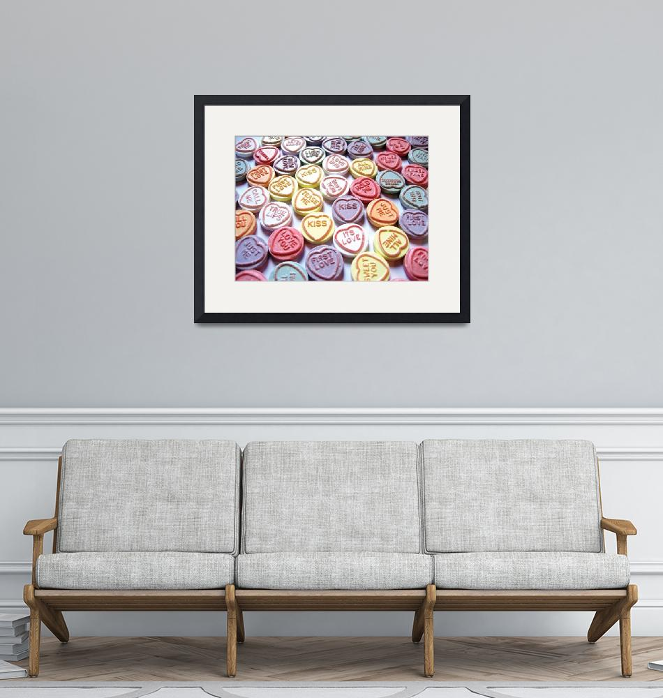 """""""Love Hearts Sweets - Valentines Day""""  (2008) by ModernArtPrints"""